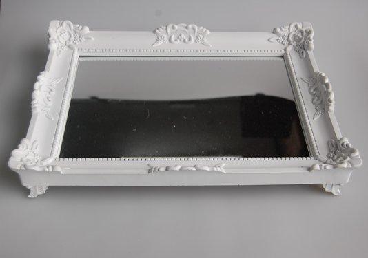 Bandeja Espelhada Rococo-Branco