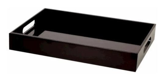 Bandeja Retangular Black 40 cm