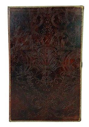 Caixa Livro Antique Arabesco Couro