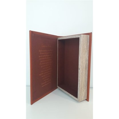 Caixa Livro New Goden Nossa Sen. De Fátima Couro