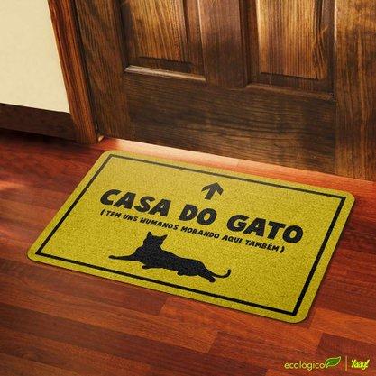 Capacho Eco Casa do Gato 3 mm Amarelo