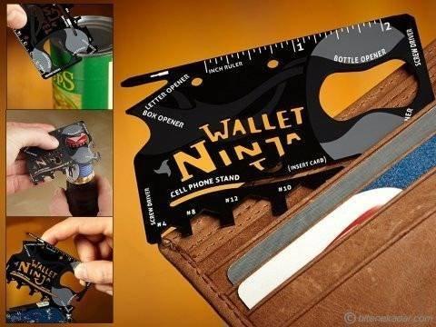 Cartao Wallet Ninja Ferramentas 18 em 1