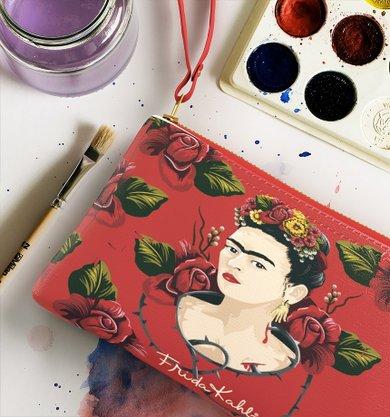 Carteira  Almoço  Frida Khalo Rosas