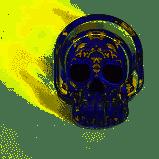 Cinzeiro de Vidro Caveira Mexicana Roxa