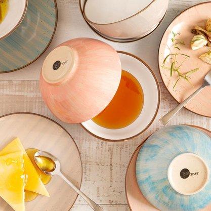 CJ 2 Bowls Porcelana Rosa 14 Cm