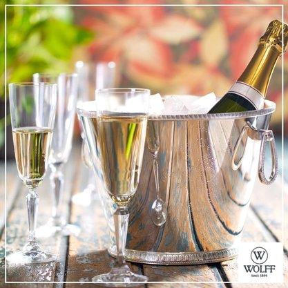 Cj de 6 Taças de Cristal Ecologico para Champagne