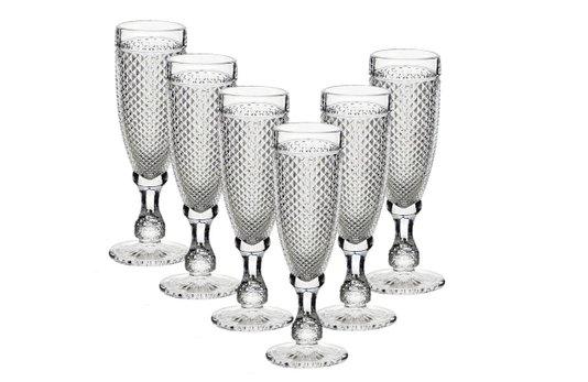 Cj de 6 Taças para Champagne Bico de Jaca