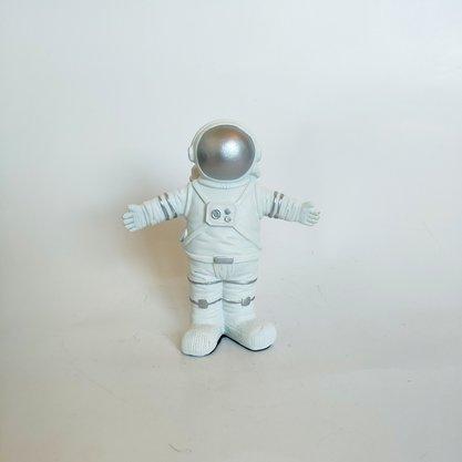 Decoraçao Astronauta em Resina Prata