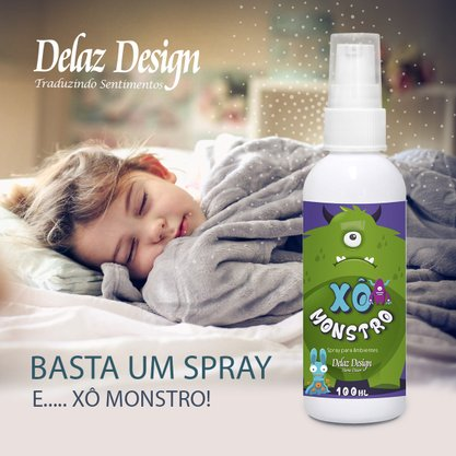 Difusor para ambiente linha XO Monstro infantil 100ml Delaz Design