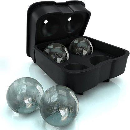 Forma para 4 Gelos em Esfera - Silicone