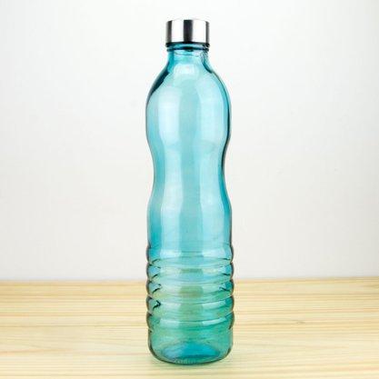 Garraf em Vidro Curves Azul 1,25 L