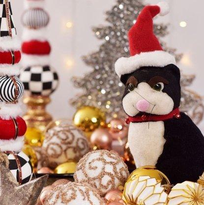 Gato Decorativo Natalino