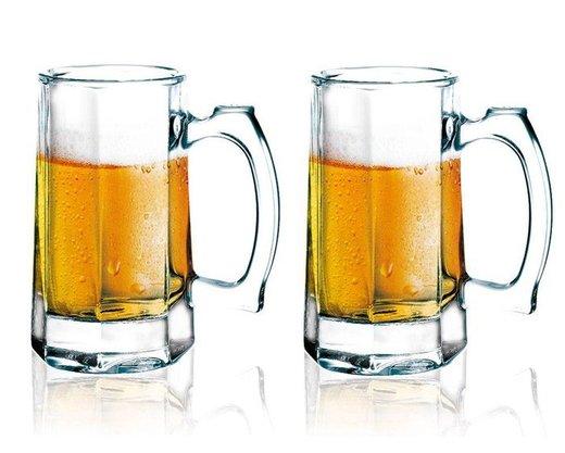 Jogo de 2 Canecas para cerveja/Chope em Vidro 350 ml