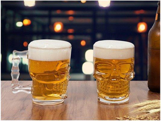Jogo de 2 Canecas para Cerveja em Vidro