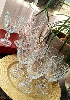 Jogo de 6 Taças para Vinho/ Agua