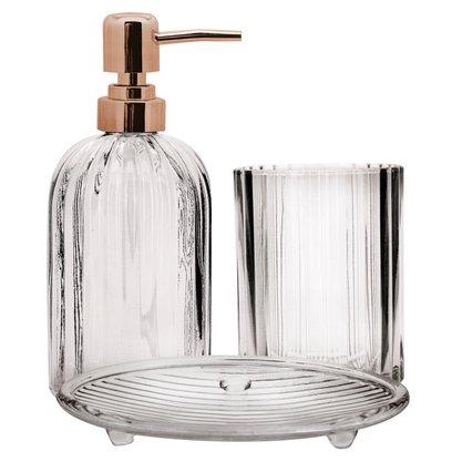 Jogo de Banheiro Em vidro 3 Peças