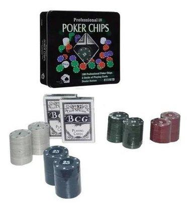 Jogo Poker 100 Pecas- Lata