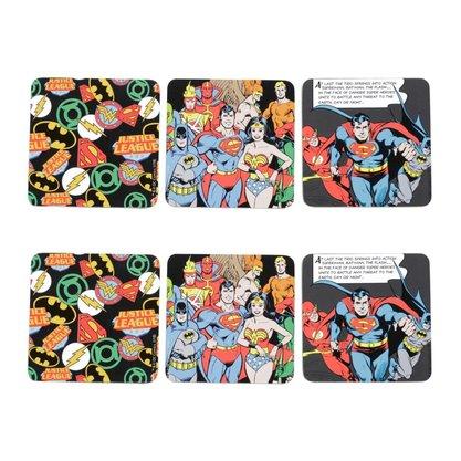 Jogo Porta Copos Liga da Justiça Oficial DC Comics