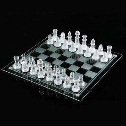 Jogo Xadrez em Vidro 32 Peças 25x25 cm