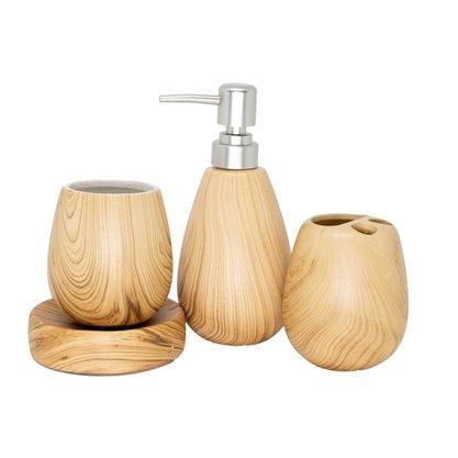 Kit de Banheiro cerâmica 4 Pc Bambo