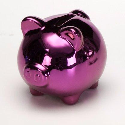 Mini Cofre Porquinho lilás