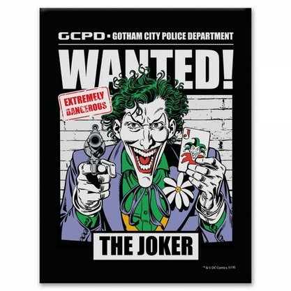 Placa Metal Joker DC Comics