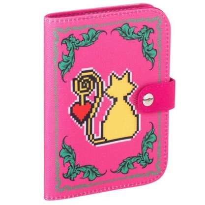 Porta Passaporte Amor de Pixel Gato