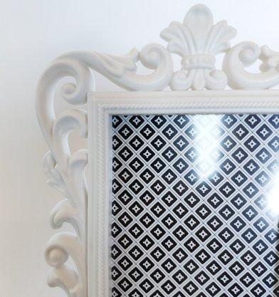 Porta Retrato Colonial Branco 4X6''