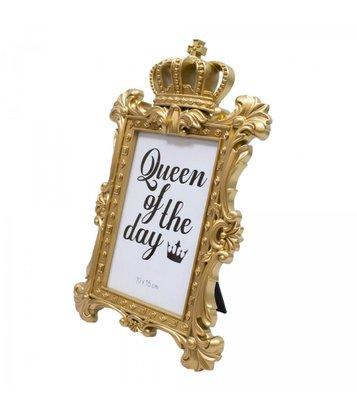 Porta Retrato Plástico Realeza Dourada