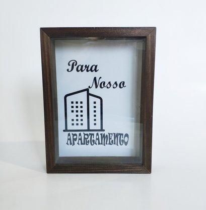 Quadro Cofre em Madeira Para o Nosso Apartamento