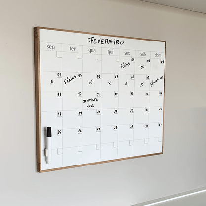 Quadro/Placa para Escrever Calendario