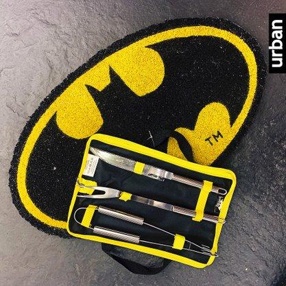 Set com 3 peças Churrascp Batman Oficial