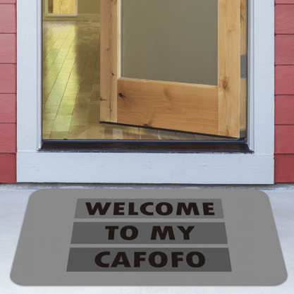 Tapete Antiderrapante Welcome To My Cafofo