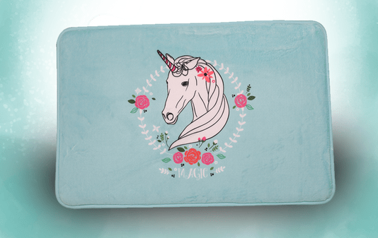 Tapete Poliester Floffy Cute Unicornio