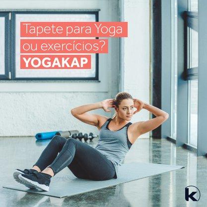 Tapete Yog/Exercicios Cinza 5mmx0,60x1,66 cm