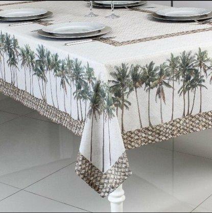 Toalha de Mesa Essence- Coqueiros Microfibra